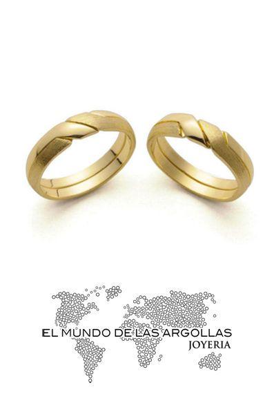 Modelo: A-A09435M - Alianza oro amarillo 14k 5mm #ArgollasDeMatrimonio