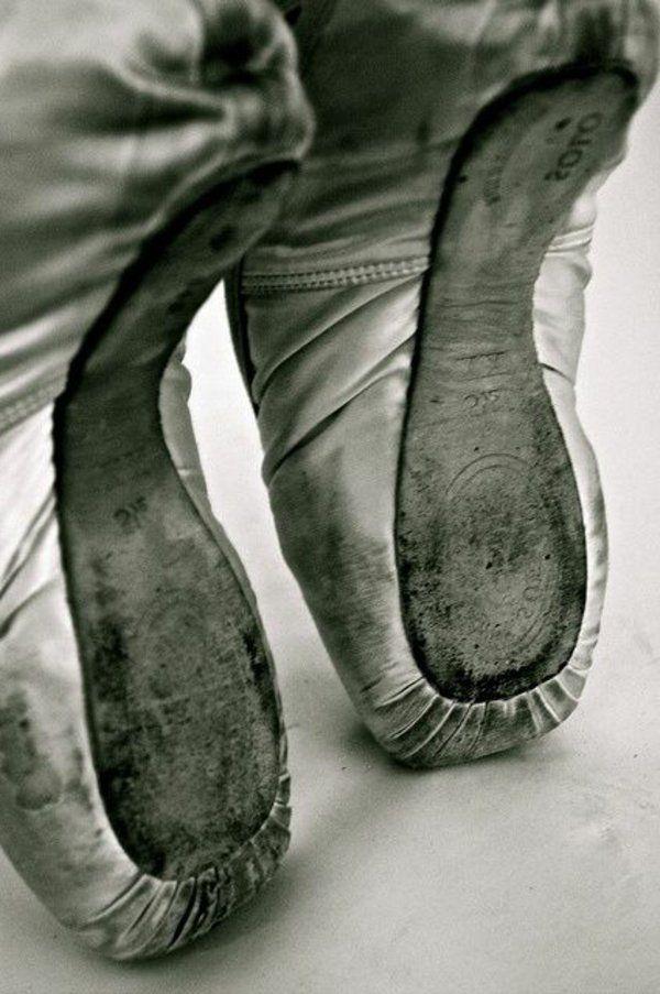 Chaussures de danse utilisées