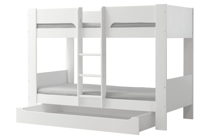 Flexa Basic Modern Stapelbed Wit incl. opberglade