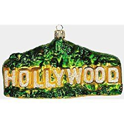 Los Angeles Christmas Ornament Hollywood Sign LA California Polish Glass Christmas Ornament