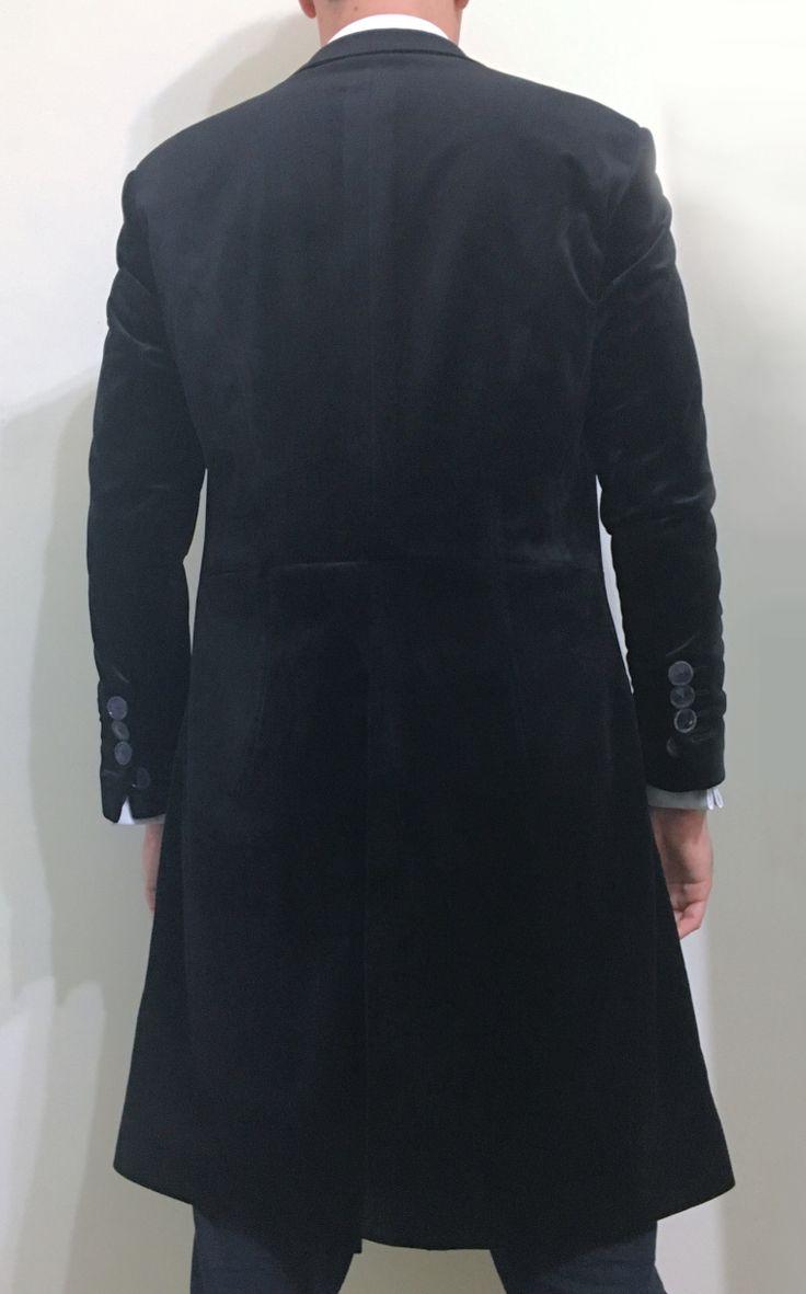 Black Velvet Frock Coat by Magnoli Clothiers
