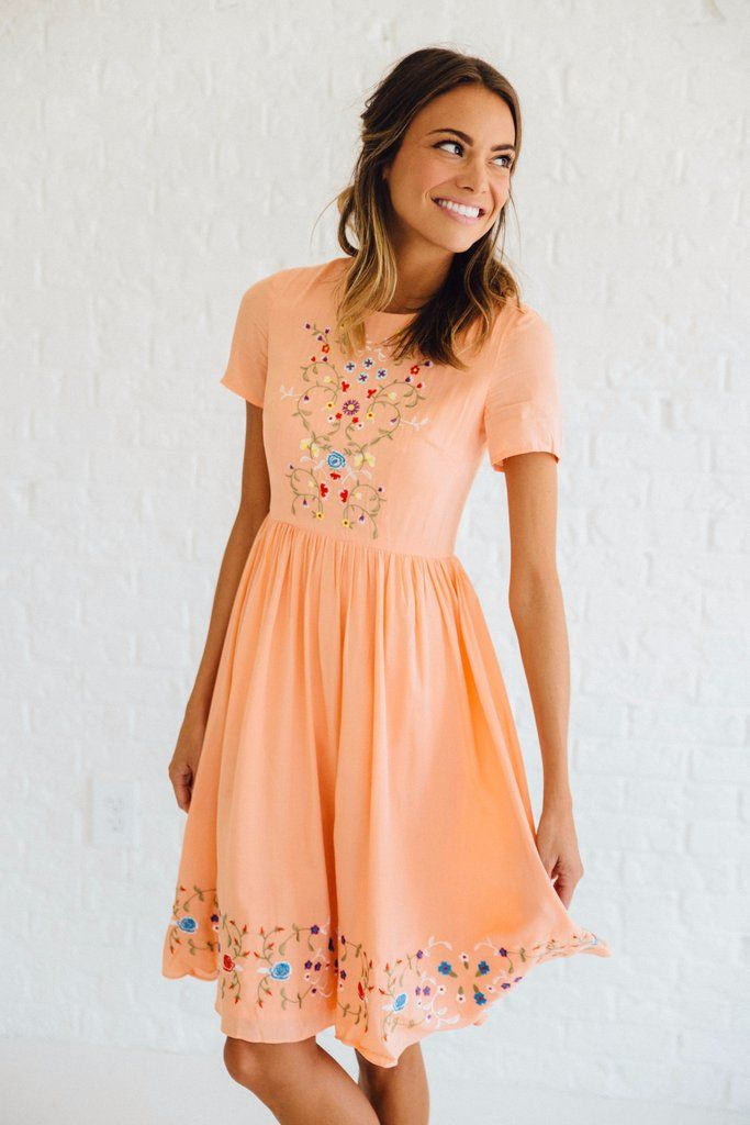 Adelaide Embroidered Dress