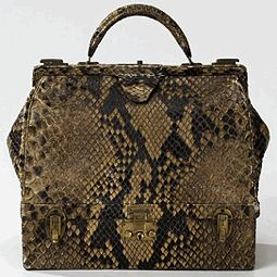 Hermes Sac Mallette Bag in Python (the Mallete Bag has a snap open ...