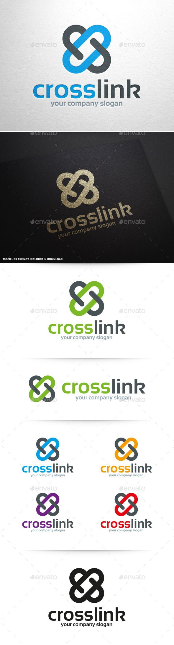 Cross Link   Logo Design Template Vector #logotype Download it here: http://graphicriver.net/item/cross-link-logo-template/10066742?s_rank=1721?ref=nexion