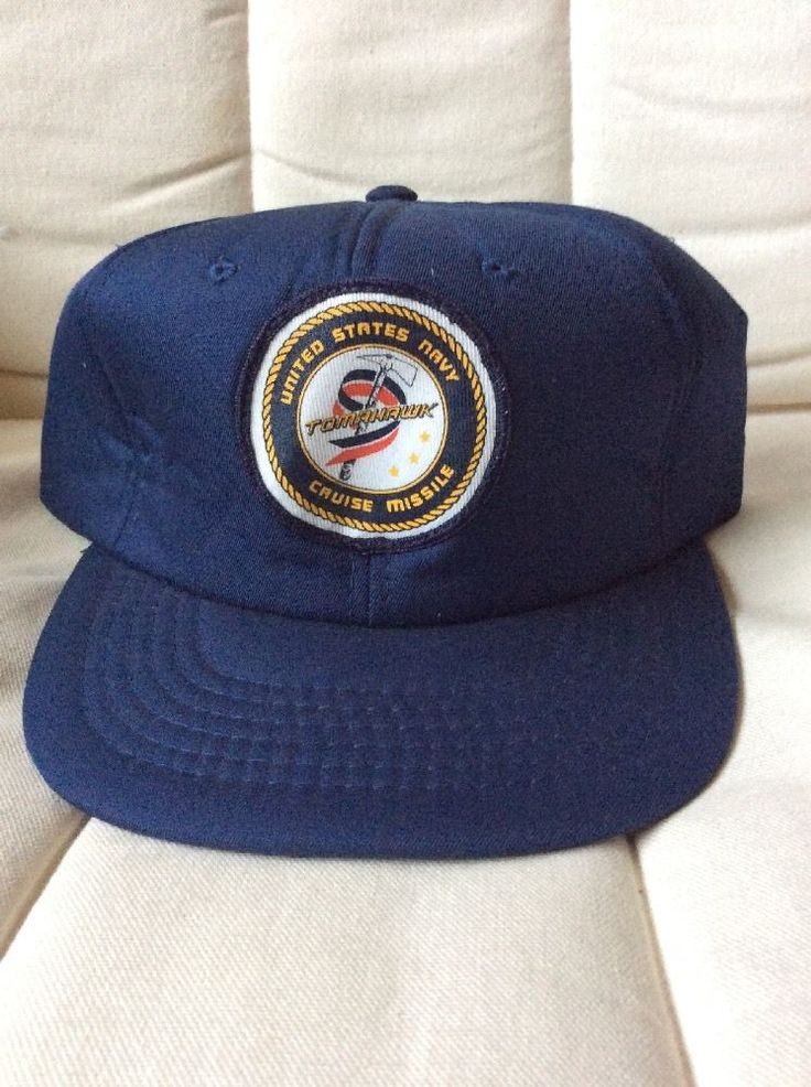 us navy tomahawk cruise missile baseball hat cap united states vintage lucky brand