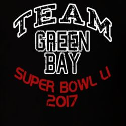 Team Green Bay Super Bowl 51 2017 Football Fan Worn Look T Shirt