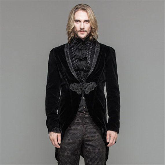 Steampunk - Steampunk Mens Dress Jacket Gothic Swallow Tail Wedding Coats by SteelSir