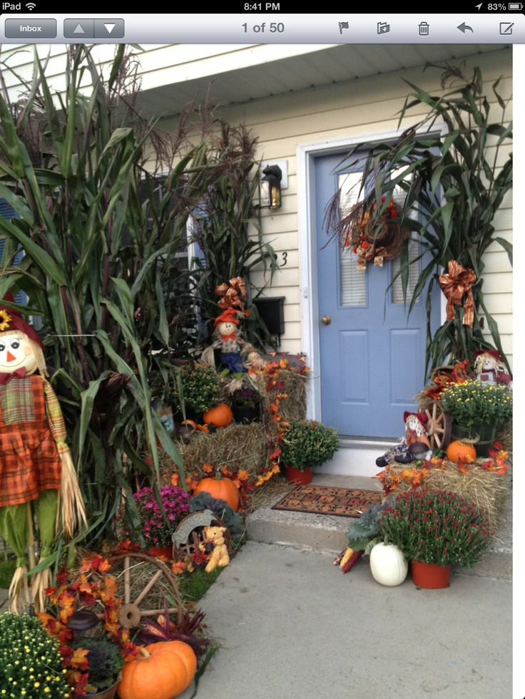 Outside Fall Decorations Fall Pinterest