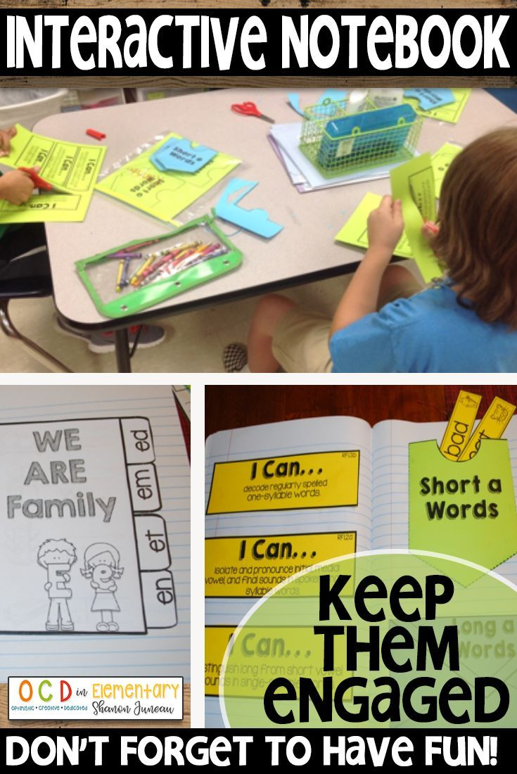 Interactive notebooks are a great substitution for your daily worksheets.  These language arts activities comes with tons of templates to work on short and long vowel sounds and it keeps everything organized for your elementary students.