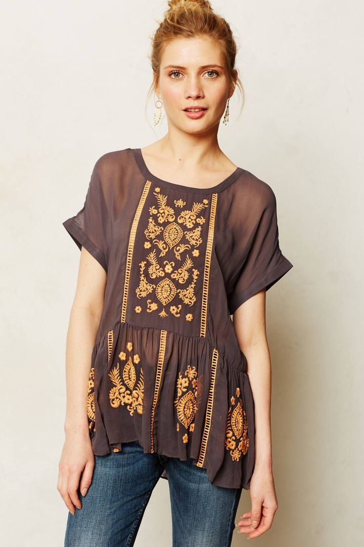 In love with this Antala Peplum Top from anthropologie