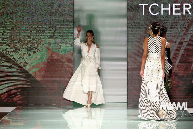 Silvia Tcherassi Runway - Miami Fashion Week#rexfabrics#purveyoroffinefabrics#cometousforfashion#passionforfabrics