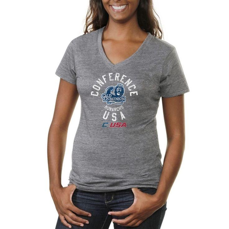 Conference USA Gear Women's Conference Stamp Tri-Blend V-Neck T-Shirt - Ash  ------