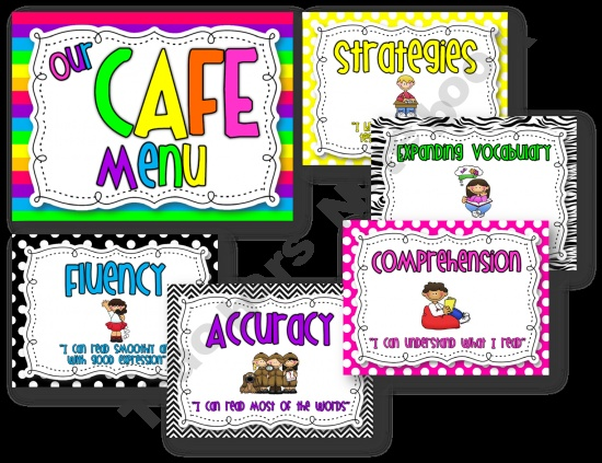 CAFE header and posters - love this one: Teachersnotebook Com, Strategies Boards, Cafe Posters, Boards Posters, Dots Products, Flops Shops, Black White, Daily 5 Cafe, Cafe Strategies