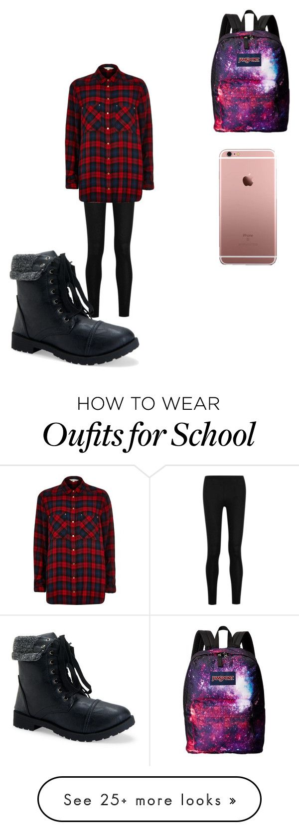 """""""School outfit"""" by nerdgirl56 on Polyvore featuring moda, Donna Karan, River Island, Aéropostale ve JanSport"""