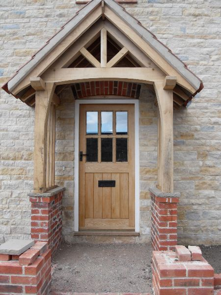 Oak Porch With Brick Plinth Http Www Hortusligneous Co