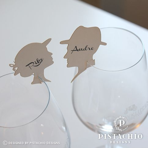 Vintage wedding name cards by www.pistachiodesigns.co.za