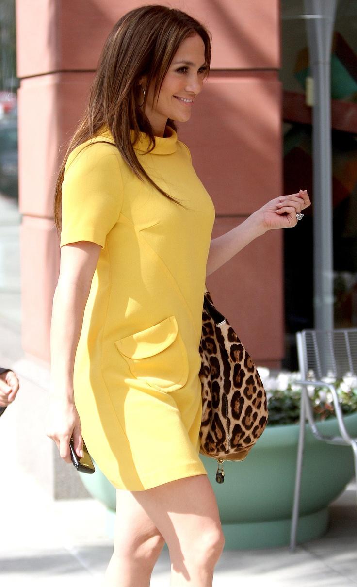 Jlo neon yellow dress caterpillar