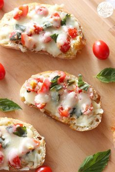 Bruschetta Melts Appetizer