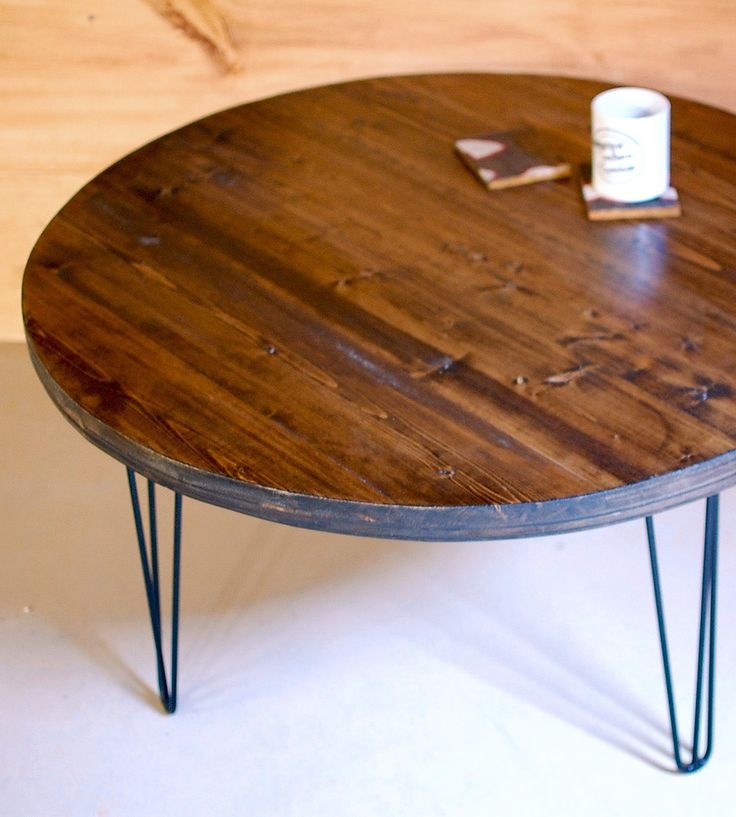 Round Wood Hairpin Coffee Table: 1000+ Ideas About Round Coffee Tables On Pinterest