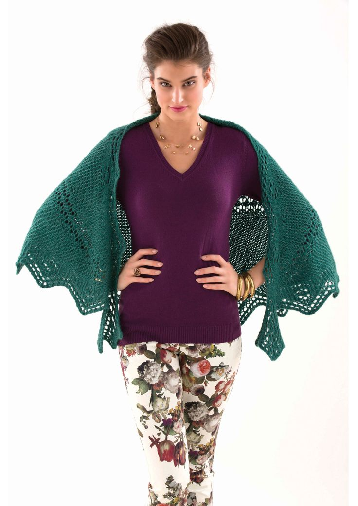 GARTER LACE SHAWL - Designed by Lynette Meek, as featured in the Zealana AIR Chunky Pattern Book.