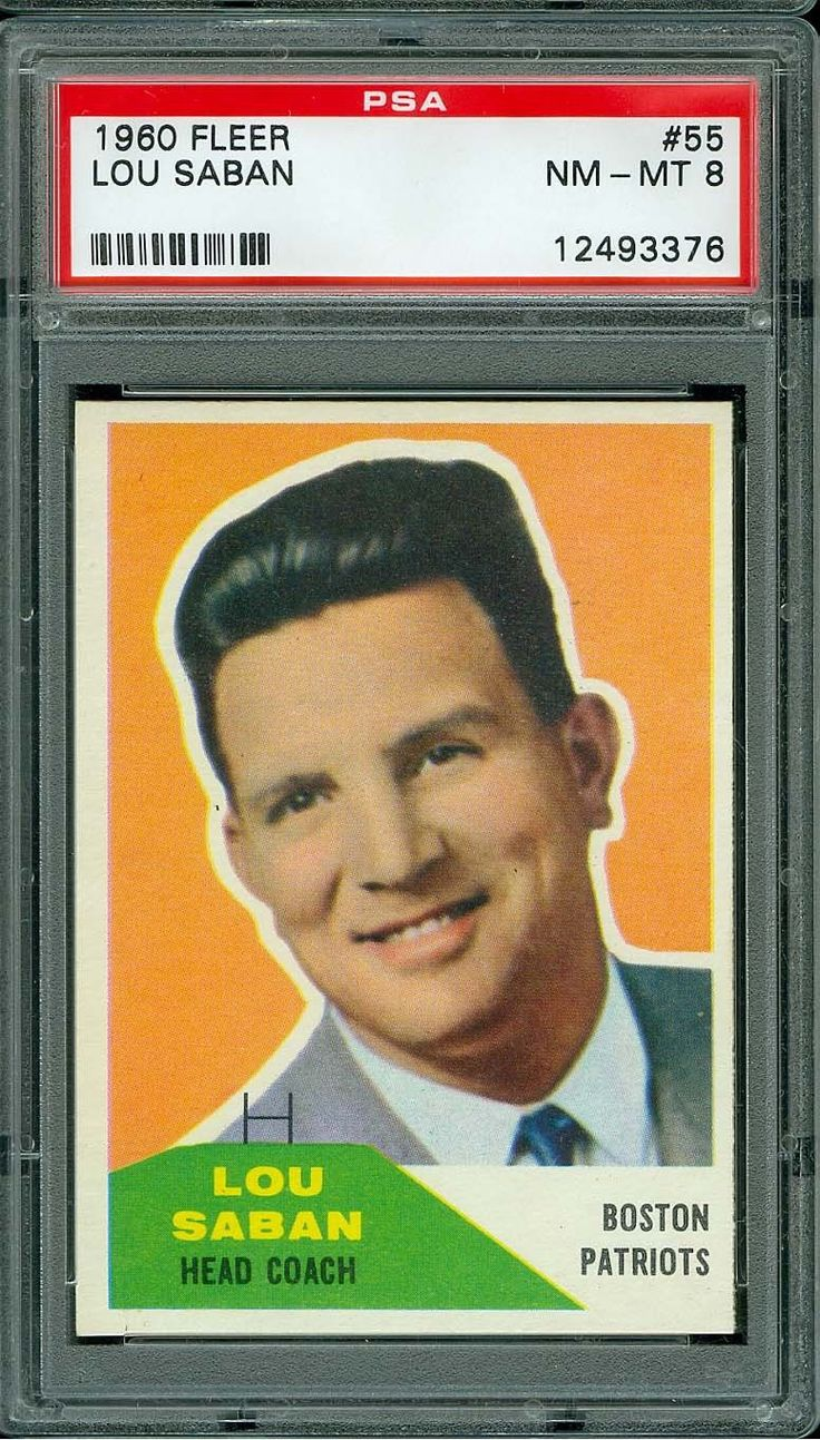 1960 FLEER FOOTBALL #55 LOU SABAN PSA 8