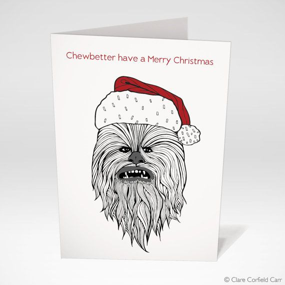 Hey, I found this really awesome Etsy listing at https://www.etsy.com/listing/257854329/star-wars-christmas-card-chewbacca-funny