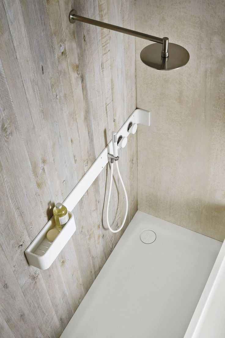 Corian® #bathroom wall shelf / shower tap ERGO-NOMIC - @rexadesign