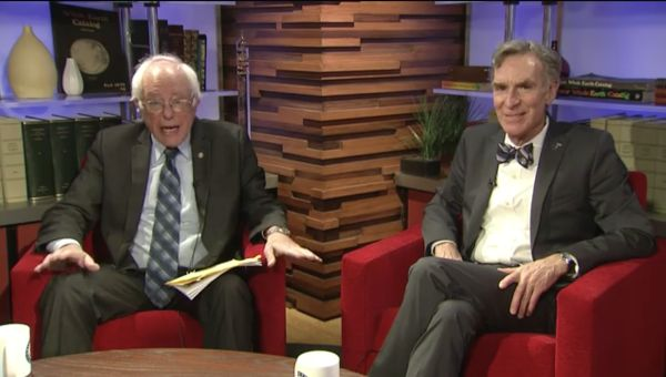 Bill Nye and Bernie Sanders Livestreamed Their Chat About Climate Change