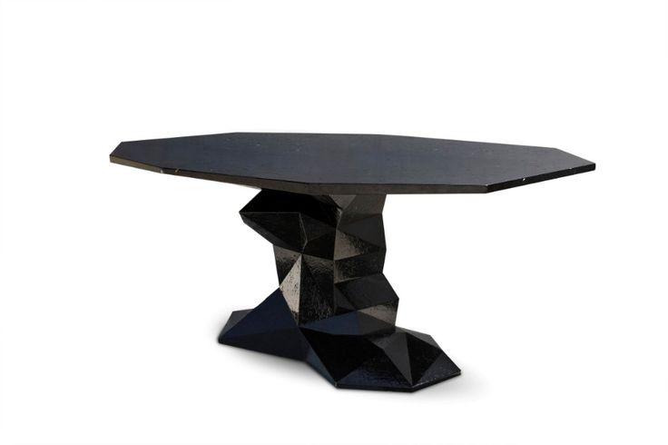 Brilliant Luxurious Dining Tables By Boca do Lobo  | www.bocadolobo.com #bocadolobo #luxuryfurniture #exclusivedesign #interiodesign #designideas #diningtable #moderndiningtable #luxurydiningtable