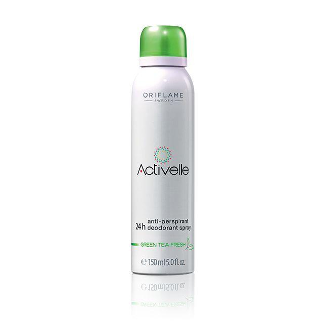 Spray Desodorante Antitranspirante Activelle Té Verde #oriflame