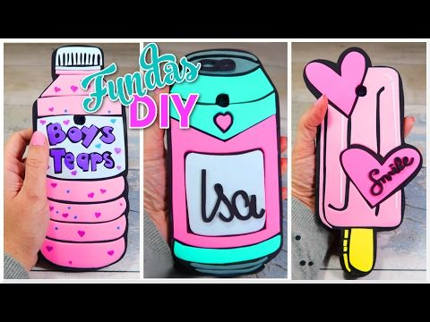FUNDAS CASERAS PARA CELULAR Y MOVIL DIY - MANUALIDADES FACILES Y SENCILLAS - YouTube