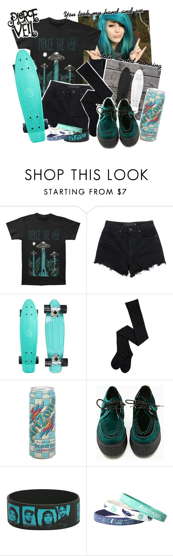"""Circles, pierce the veil"" by zombielover100 ❤ liked on Polyvore featuring Alexander Wang and T.U.K."