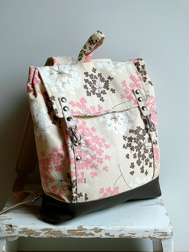 Sevenberry Pink Canvas Backpack by MiniwerkaToys on Etsy