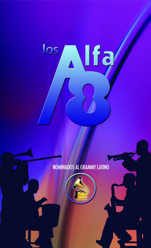 Diseño tarjeta de presentación, orquesta LOS ALFA 8 - Año: ©2008