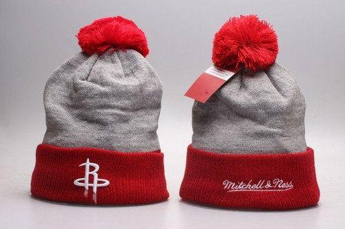 Houston Rockets Winter Outdoor Sports Warm Knit Beanie Hat Pom Pom ... 2fb5d22ca27