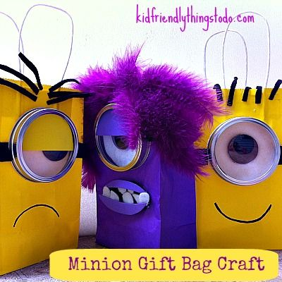 12 Despicable Me Minion Crafts, I like the mason rings for the goggles
