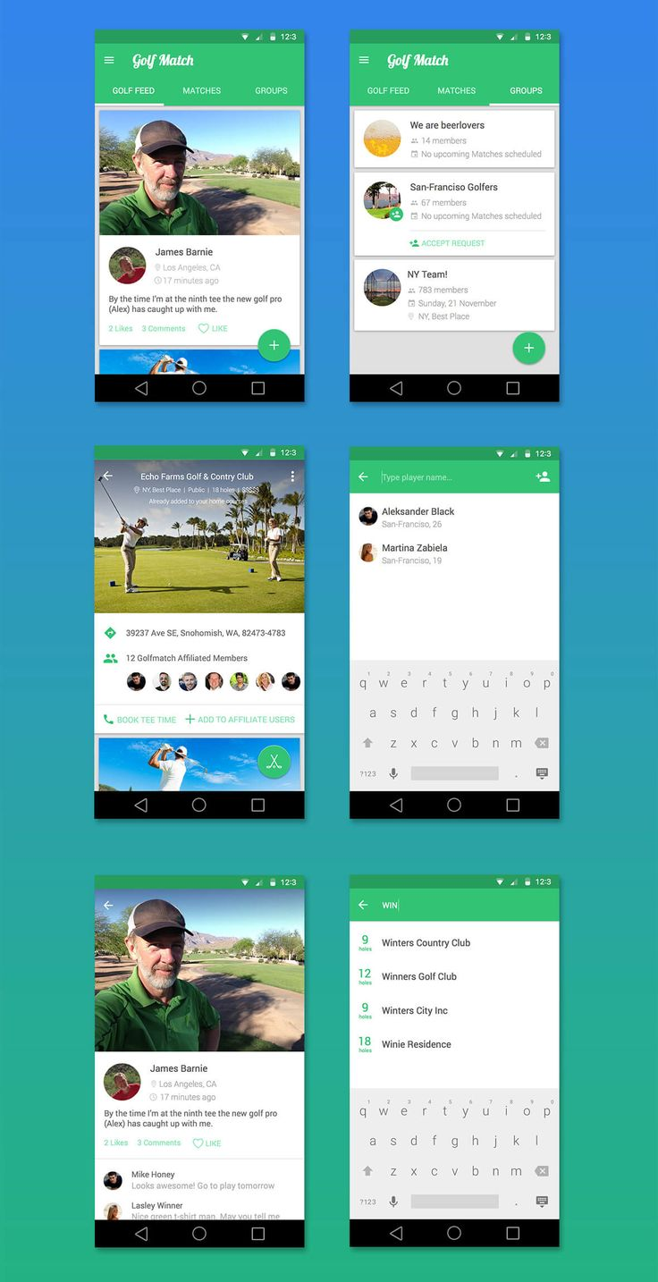 Golfmatch App – MaterialUp