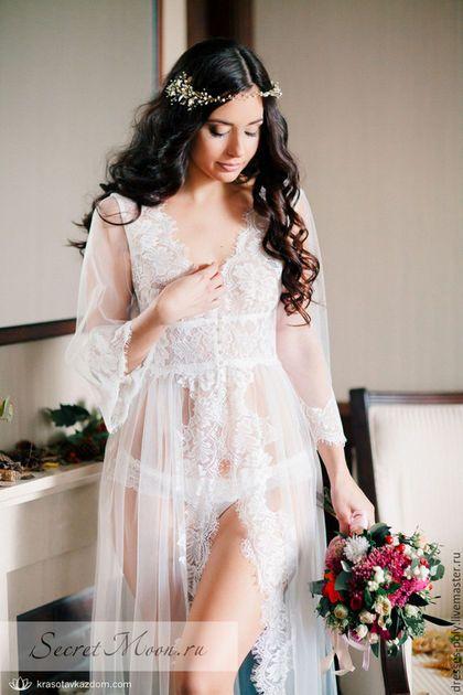 Платья ручной работы. Ярмарка Мастеров - ручная работа. Купить Будуарное платье. Handmade. Белый, утро невесты, сексуальное платье