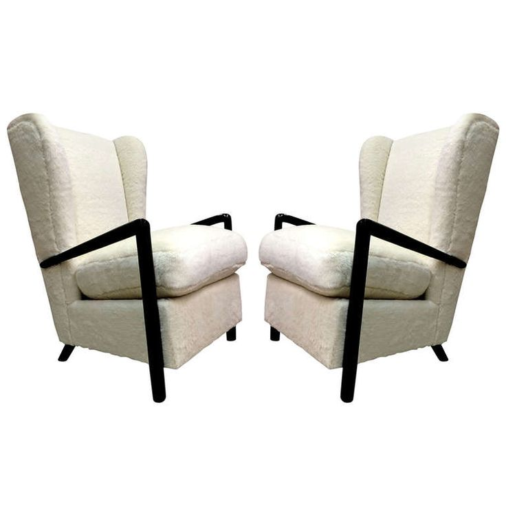 Jean Royere Genuine Documented Rarest Arm Chair With Blackened Arm And Faux  Fur Reupholstery Ca. Idea