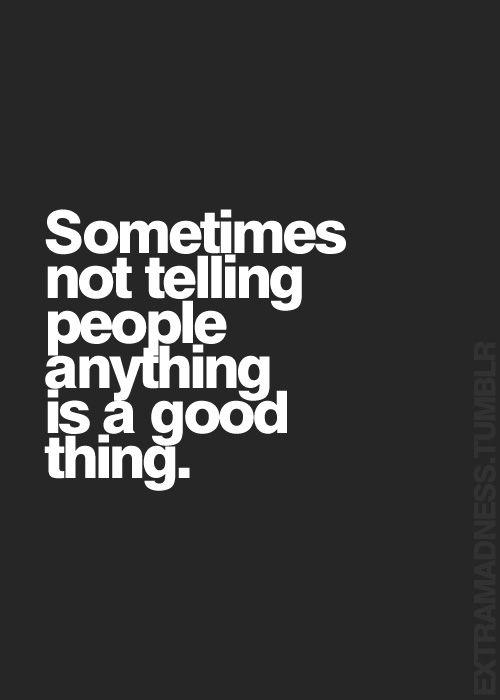Amen! I've learned... again.