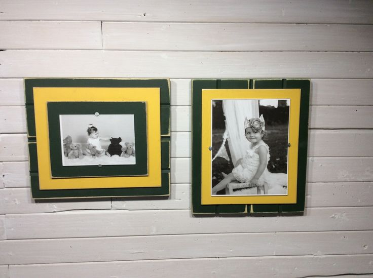 green and yellow picture frame holds 5x7 or 8x10 green - Yellow Picture Frame