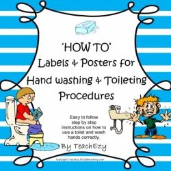 Hand washing toilets and day care on pinterest - Bathroom procedures for preschool ...