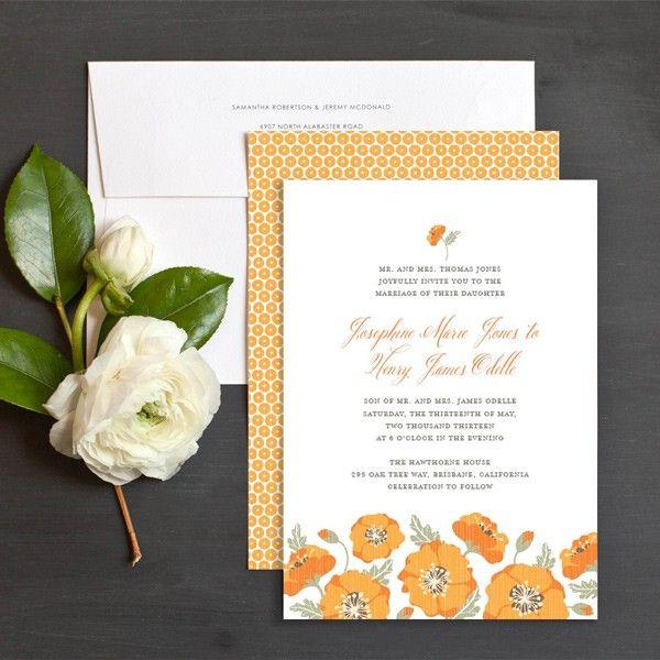 Summer Poppies Wedding Invitations by Elli