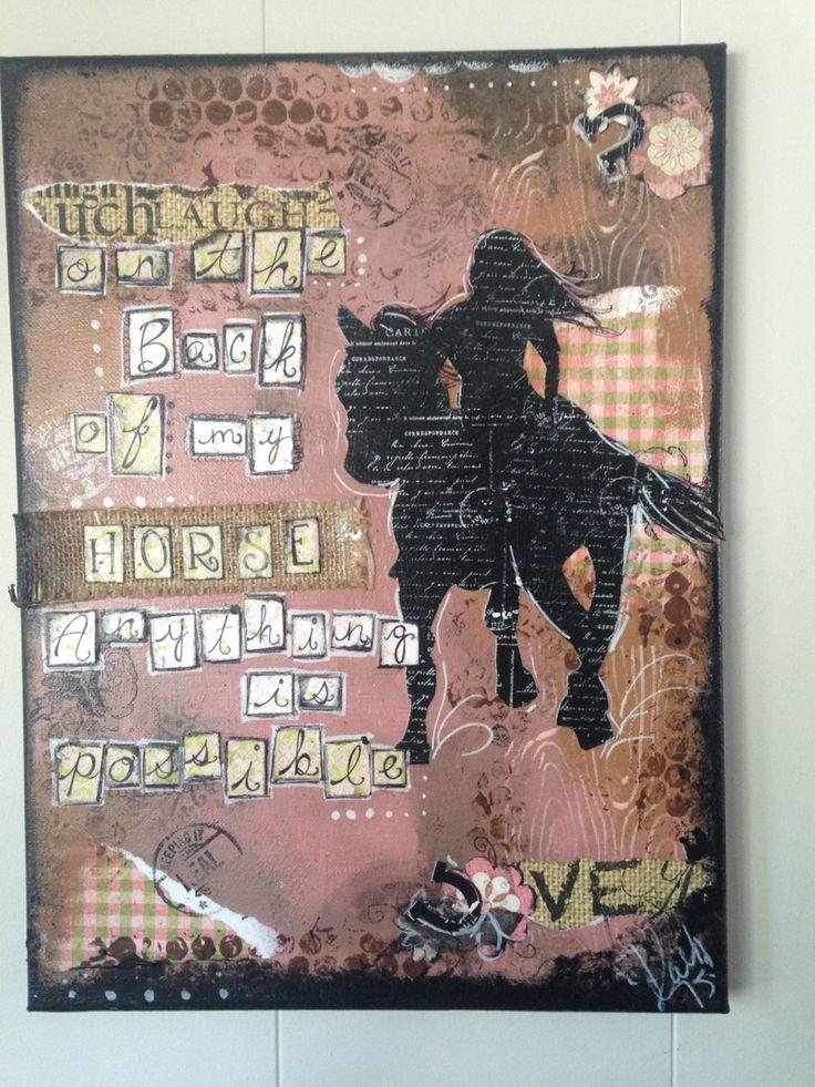 #mixedmedia #horse #cowgirl #mixedmediaart #riding