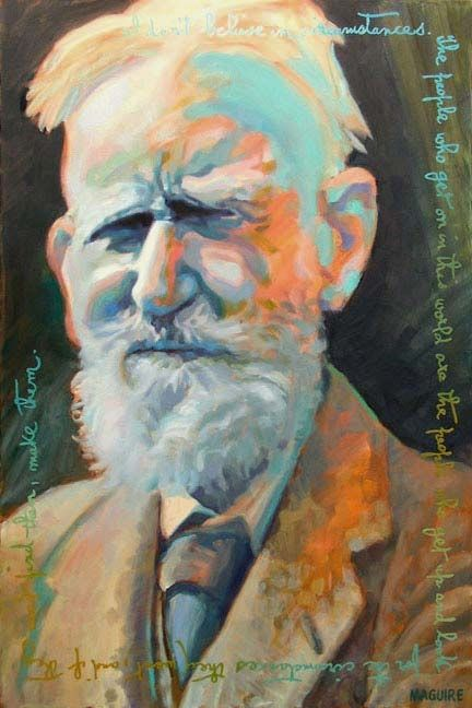 George Bernard Shaw by Barrie Maguire on ArtClick.ie