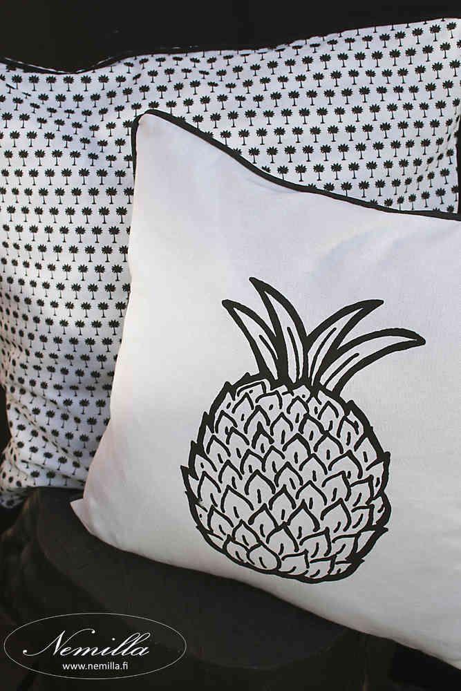 TYYNYNPÄÄLLINEN ANANAS - www.nemilla.fi #tyyny #tyynynpäällinen #ananas #ananasprintti