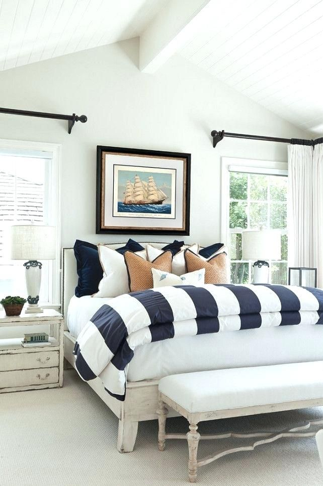 Master Bedroom Ideas Pinterest Bedroom Black White Beach House With Classic Coastal Oyster Shell The Entire Main Floor I Home Bedroom Beach House Interior Home