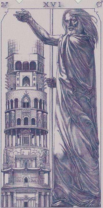 XVI. The Tower: Tarot of the III Millenium