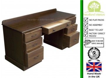 425 The Perfect Pine Desk Oak Is Heavier Though Costs 76 Height Traditional Writing With Twin Pedestal Filing Drawers