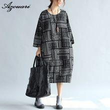 Azouari 2016 Свободный Размер новых осенью и зимой большие размер женская одежда ретро-стиль длинные свободные платья большой размер женщин clothin(China (Mainland))